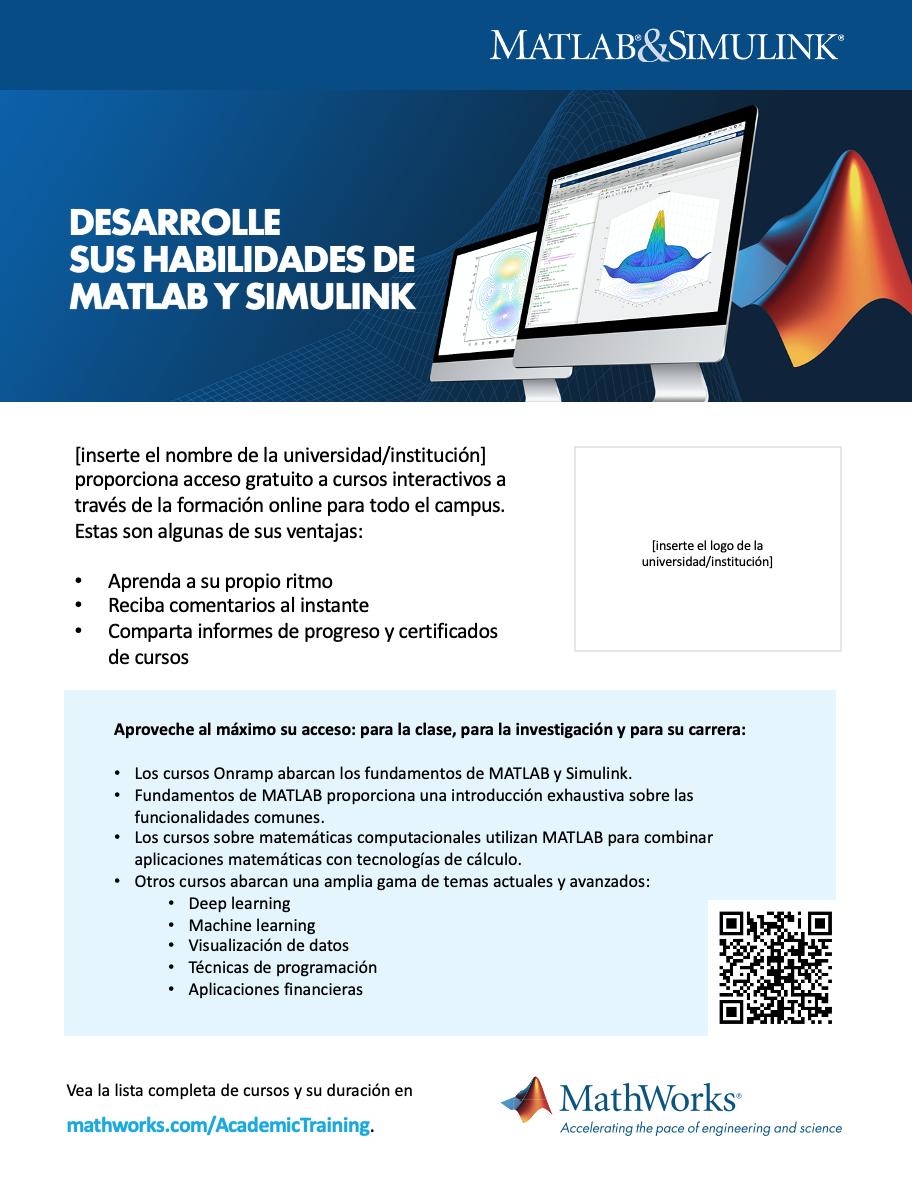 Plantilla de cartel de formación online de la infraestructura Campus-Wide License 8½ x 11