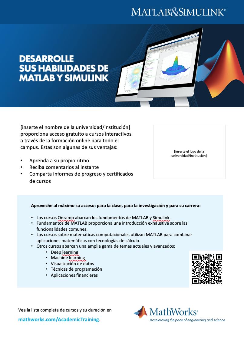 Plantilla de cartel de formación online de la infraestructura Campus-Wide License A4