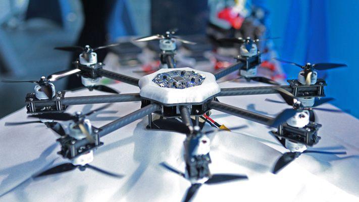Puesto de demostración de drones
