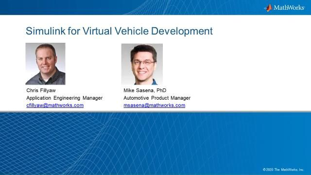 Learn about virtual vehicle development and how different Simulink capabilities can support multiple engineering teams along the V-cycle.