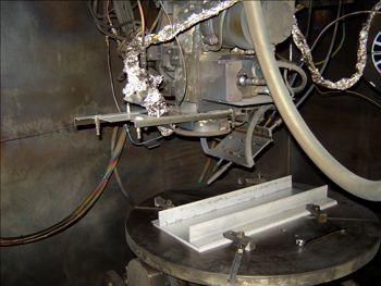 Figure 1b. Electron beam freeform welding.