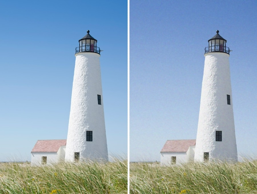 Figure 4. Original (non-noisy) image and denoised image.