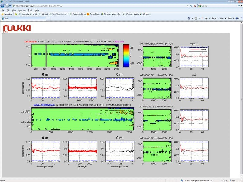 The web application, built with components created in MATLAB Builder NE, running in a browser