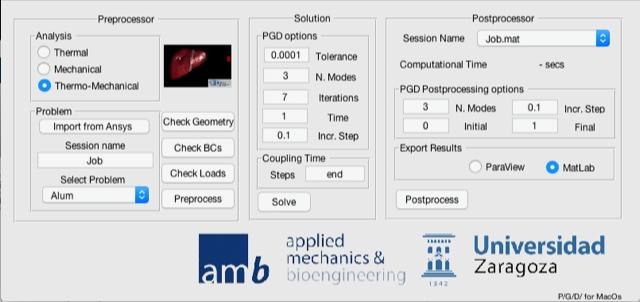 Figure 4.  The PGD MATLAB app.