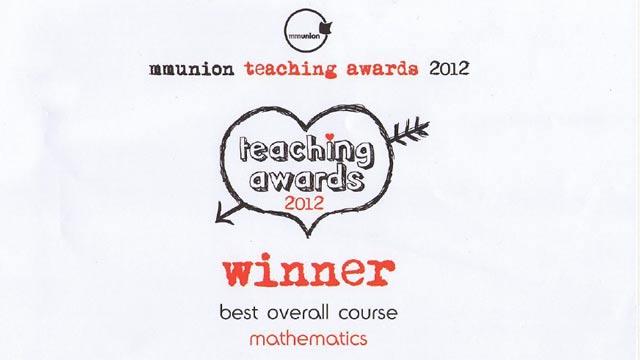 Manchester Metropolitan University Students Vote Math Best