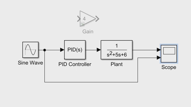Explore how to create a plant control model using Simulink. The example walks you through how to create both open- and closed-loop systems.