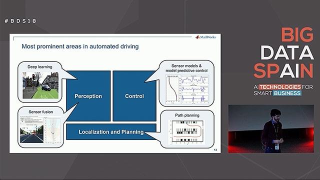 En este vídeo presentación se muestra un flujo de trabajo completo y se muestran los retos más improtantes detrás de la conducción autónoma.