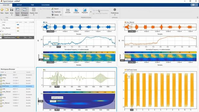 Aprenda a realizar tareas de análisis de señales, tales como preprocesamiento, filtrado y extracción de características, con la app Signal Analyzer de MATLAB.