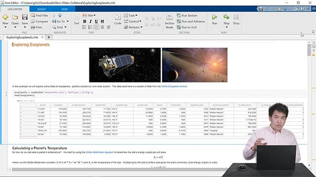 Live demo of Live Editor capabilities, including creating a notebook, sharing work with others, and writing code faster.