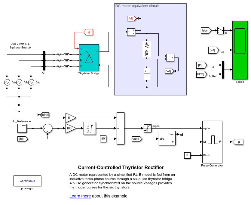 Current controlled thyristor rectifier matlab simulink description ccuart Choice Image