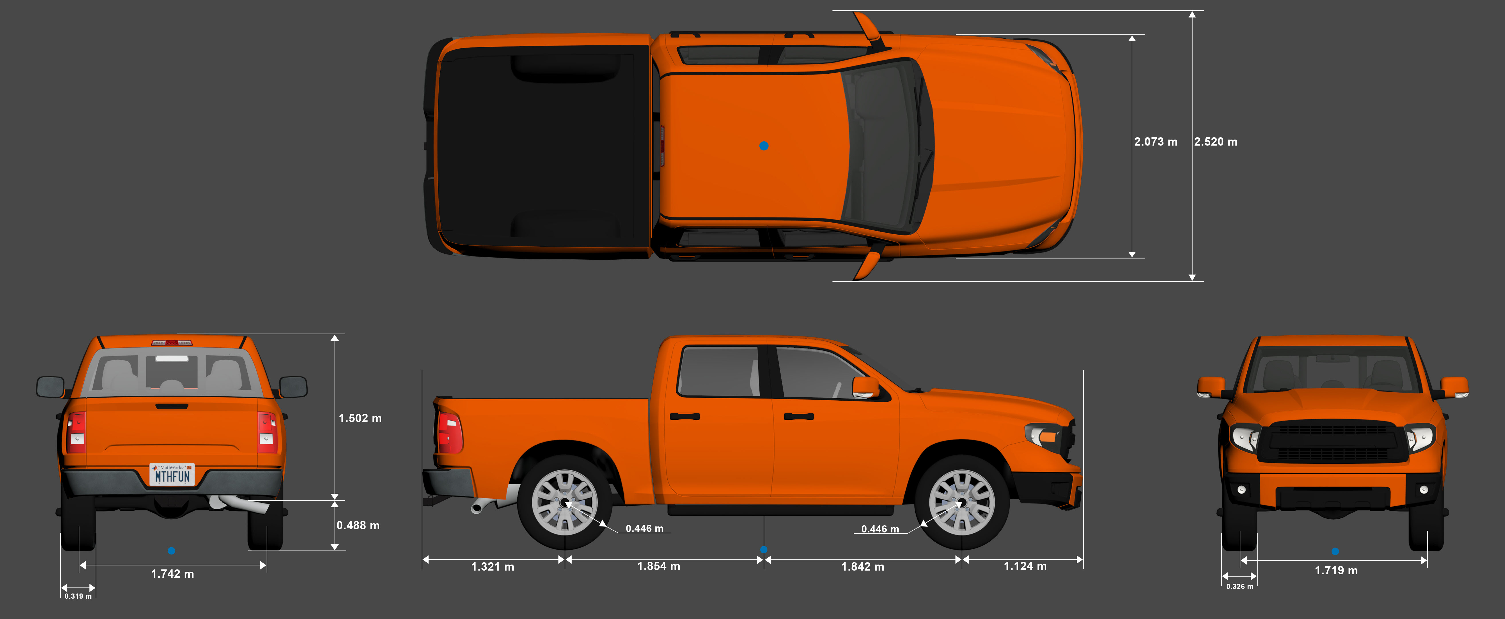 Small Pickup Truck Vehicle Dimensions