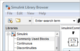Simulink Library Browser