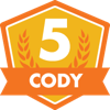 Cody 5th Anniversary Badge