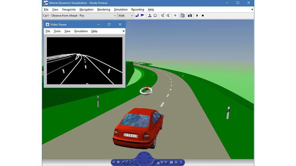 Simulación de la dinámica del vehículo.