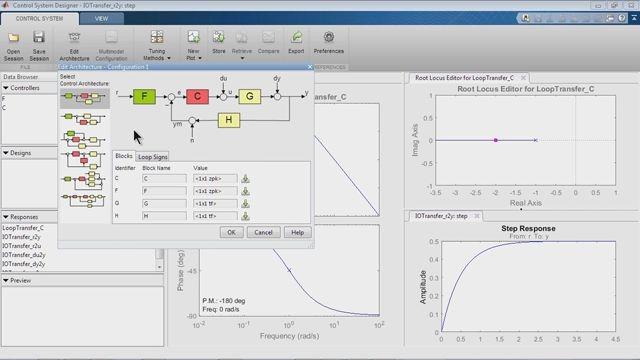 Diseñe sistemas de control por medio de SISO Design Tool.