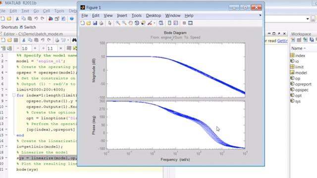 Cree un script para realizar la búsqueda de puntos de equilibrio y la linealización de modelos de Simulink en el modo por lotes.