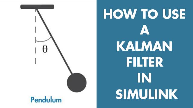 Calcule la posición angular de un sistema de péndulo simple mediante un filtro Kalman en Simulink. Aprenderá a configurar los parámetros del bloque de filtro Kalman, como el modelo del sistema, las estimaciones de estado iniciales y las características de ruido.