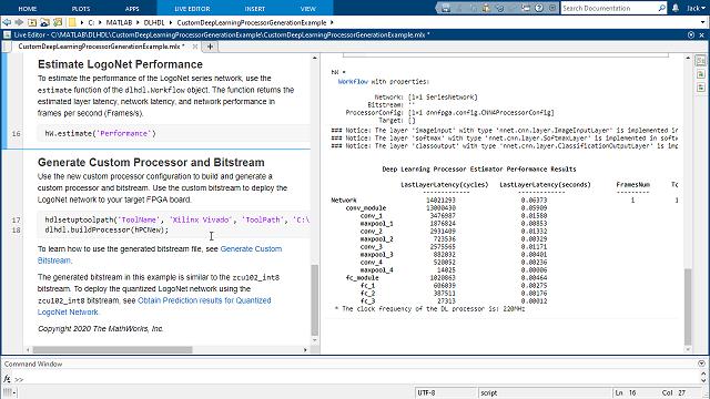 Personalice la implementación FPGA de un procesador de deep learning y genere RTL sintetizable.