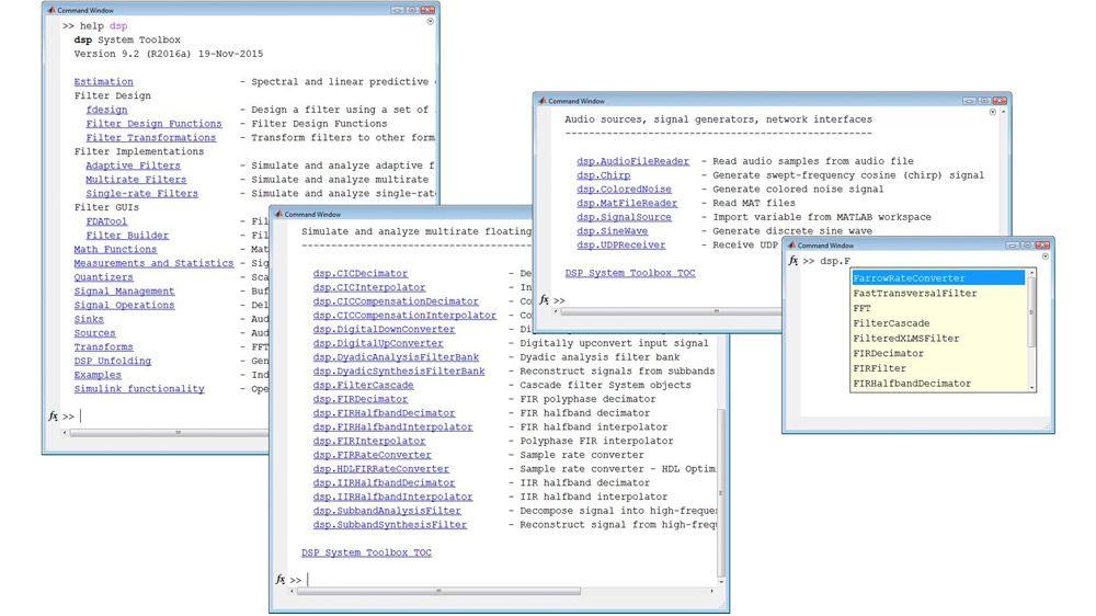 Librerías para el procesamiento de señales de streaming en MATLAB