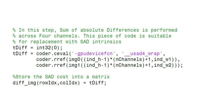 Incorporación de código CUDA existente en el código generado.
