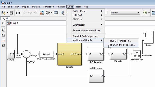 Verifique VHDL y Verilog mediante simuladores de HDL y test benches de tipo FPGA-in-the-loop con HDL Verifier.