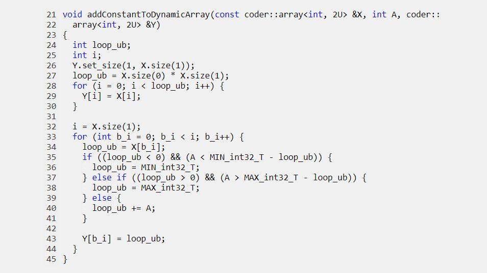 Paso de arrays asignados dinámicamente a las funciones generadas.