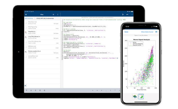 Conexión a la nube con MATLAB Mobile