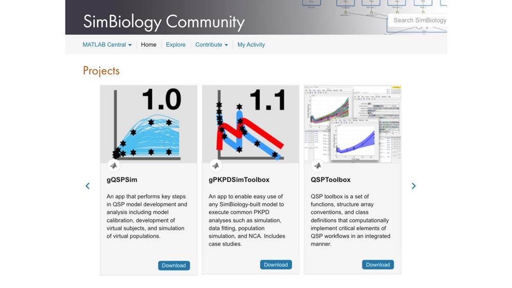 Herramientas aportadas por la comunidad online de SimBiology.