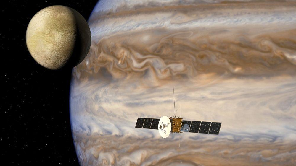 Airbus Defence and Space simula los flujos de datos de la misión Jupiter Icy Moons Explorer.
