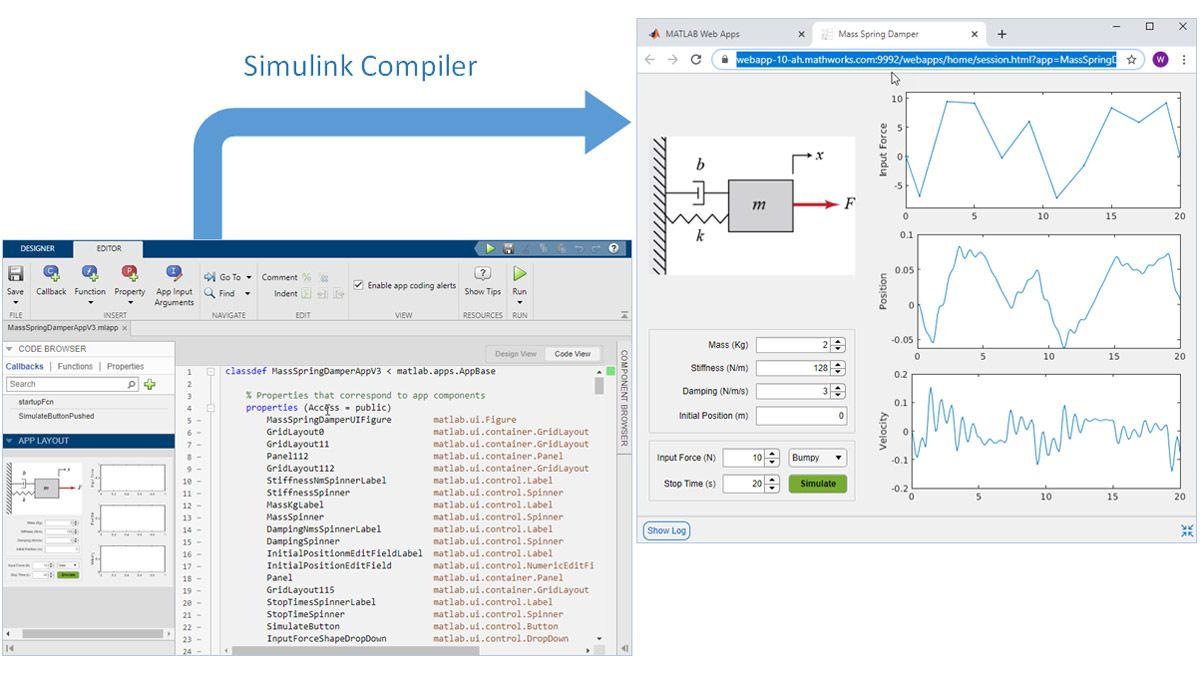 Empaquete la aplicación creada por MATLAB App Designer como una app web.