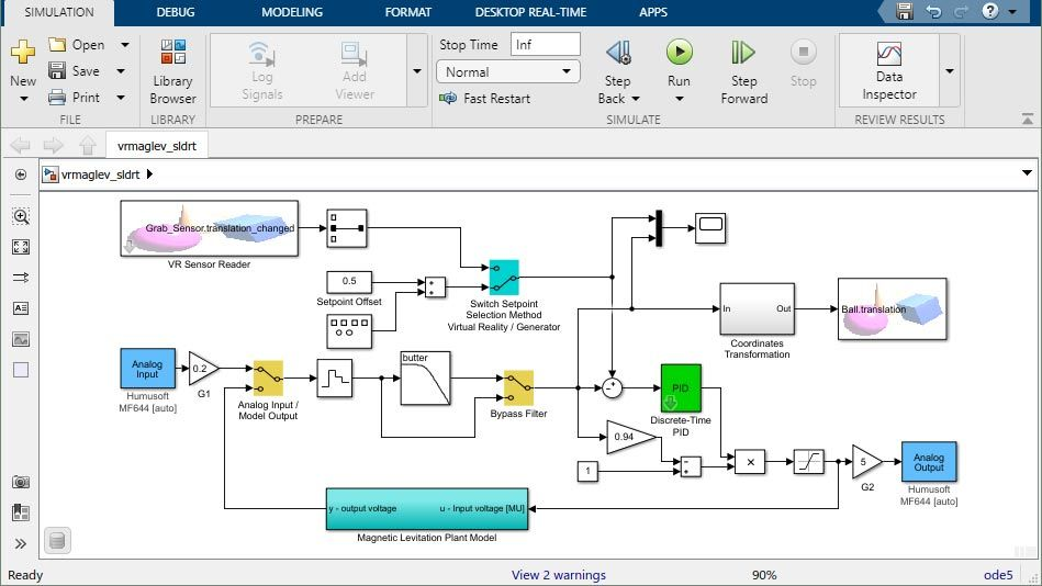 simulink desktop real-time