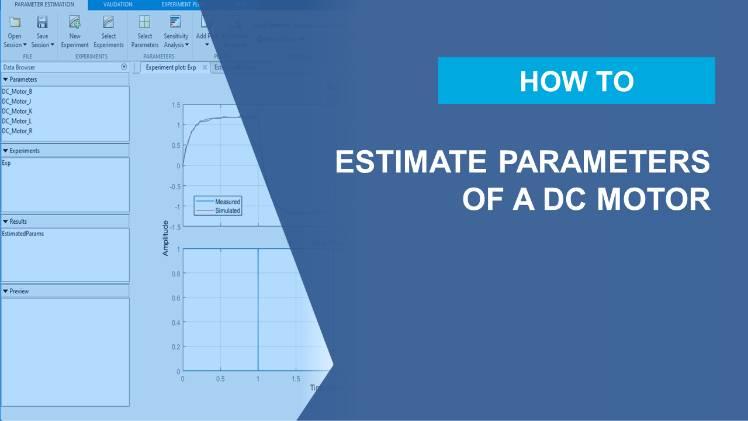 Estime automáticamente los parámetros de un motor de CC a partir de los datos de entrada y salida medidos con Simulink Design Optimization.