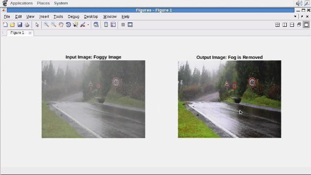 GPU Coder genera código CUDA a partir de un algoritmo de rectificación de niebla escrito en MATLAB.