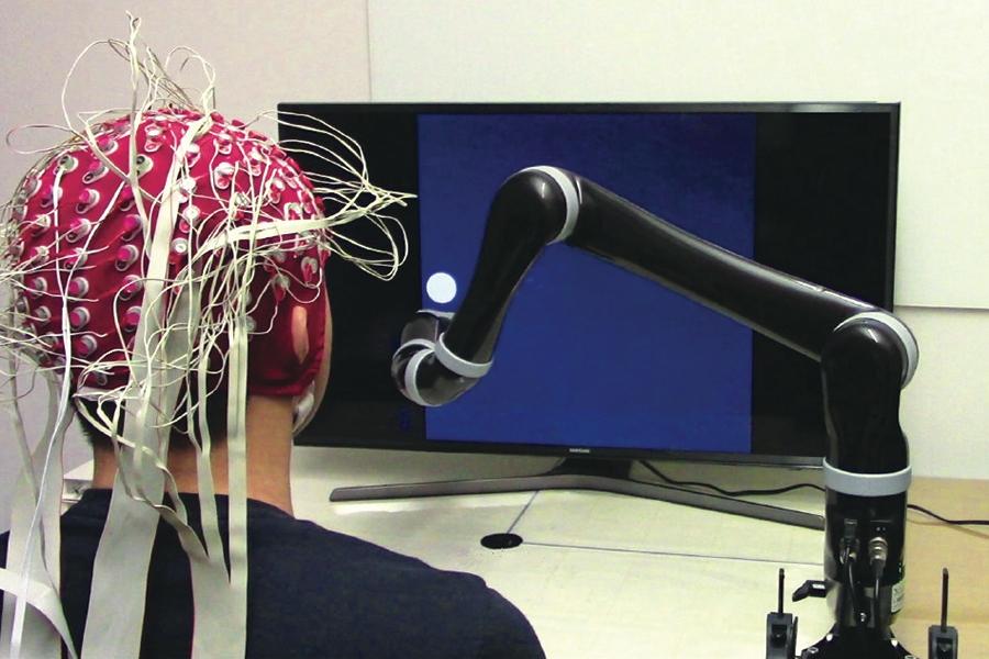 Interfaz cerebro-ordenador (BCI) no invasiva. Imagen de: Universidad Carnegie Mellon