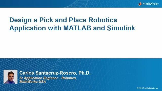 Cómo resolver un problema de pick and place con un robot manipulador en MATLAB y Simulink