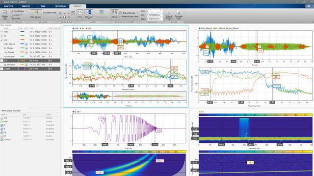 Introducción a la app Signal Analyzer