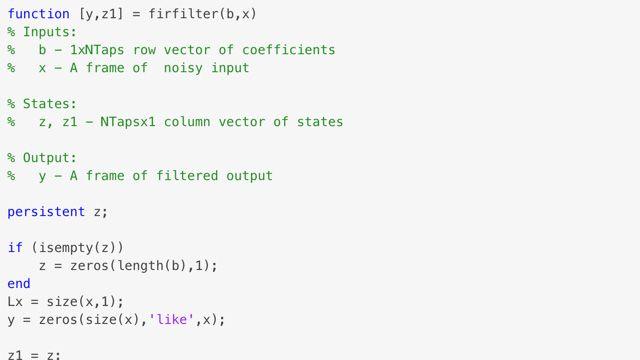 Aceleración del procesamiento de señales mediante la generación de código