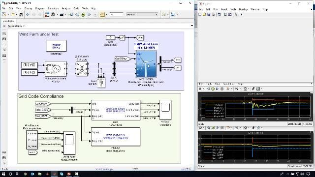 Este webinar muestra cómo se utiliza Simscape Electrical para evaluar el rendimiento de un sistema de energía con una alta penetración de energía renovable.