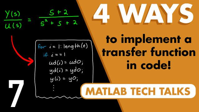 We like to design systems with s-domain transfer functions, but often we need to implement the final solution in software. This video describes how to go from a transfer function to code that can run on a microcontroller.
