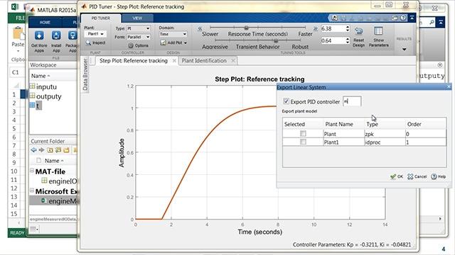 Esta presentación muestra los últimos avances en los productos MATLAB y Simulink para el diseño de control e identificación del sistema.