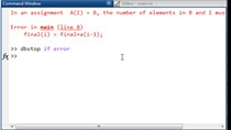 "The very common MATLAB error: ""In an assignment A(I) = B, the number of elements in B and I must be the same."" occurs when one side of an assignment has a different dimension than the other."