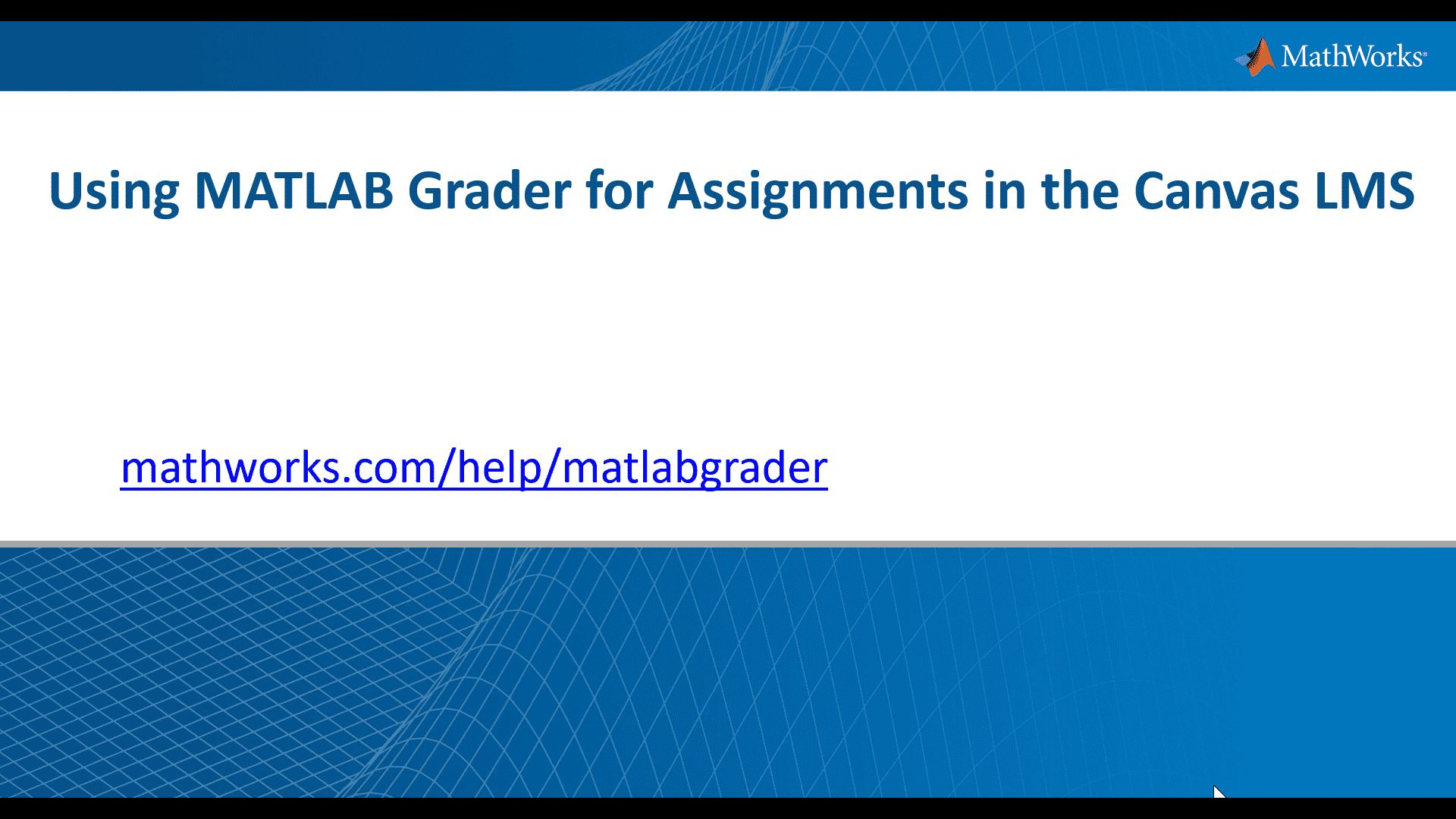 Learn how instructors can add automatically graded MATLAB-based assignments to their Canvas learning management system using MATLAB Grader.