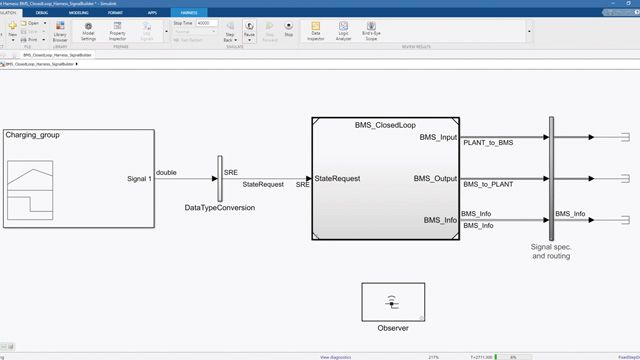 See how to perform closed-loop testing to verify battery management system (BMS) logic.